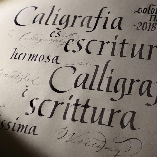 scrittura corsivo